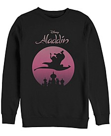 Men's Aladdin Jasmine Silouhette Over Agrabah, Crewneck Fleece