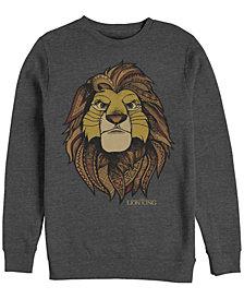 Disney Men's Lion King Noble Simba, Crewneck Fleece