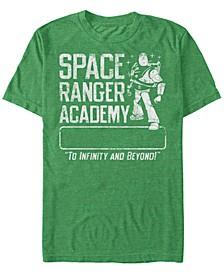 Pixar Men's Buzz Lightyear Space Ranger Academy, Short Sleeve T-Shirt