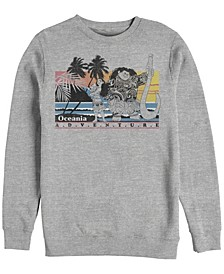 Men's Moana Maui Pua Oceania Adventure, Crewneck Fleece