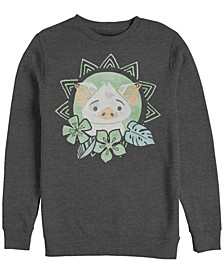 Men's Moana Pua Cute Flower, Crewneck Fleece