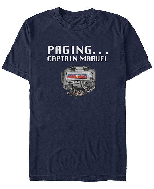 Marvel Men's Captain Marvel Universal Pager, Short Sleeve T-shirt