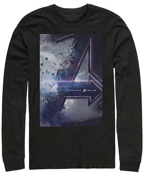 Marvel Men's Avengers Endgame Release Date Poster, Long Sleeve T-shirt