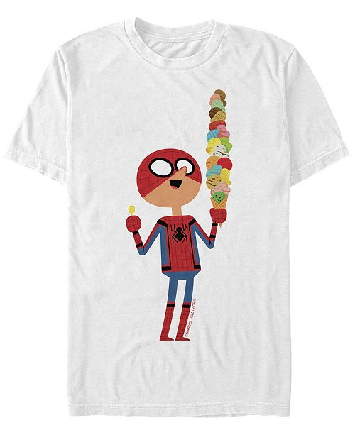 Marvel Men's Spider-Man Far From Home Ice Cream, Short Sleeve T-shirt