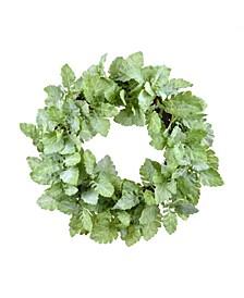 Permanent Botanicals Dusty Miller Leaf Wreath