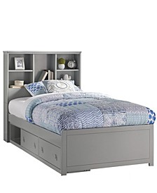 Caspian Twin Bookcase Bed with Storage Unit