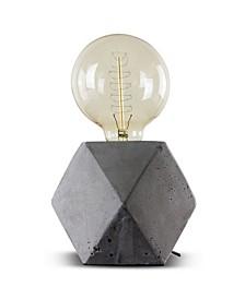 American Art Decor Modern Stylish Geometric Hexagon Concrete Cement Accent Table Lamp