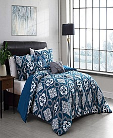 Lawton Reversible 6-Piece Queen Comforter Set