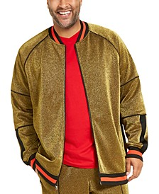 INC Men's Big & Tall Metallic Track Jacket, Created For Macy's