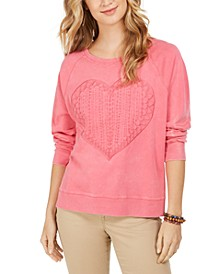 Heart-Trim Cotton Sweatshirt, Created For Macy's