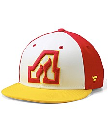 Atlanta Flames Tri-Color Throwback Snapback Cap