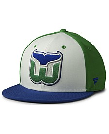 Hartford Whalers Tri-Color Throwback Snapback Cap