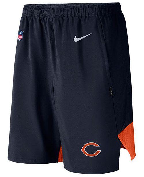 Nike Men's Chicago Bears Player Practice Flex Shorts