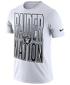 Men's Oakland Raiders Dri-Fit Cotton Mezzo Local Verbiage T-Shirt