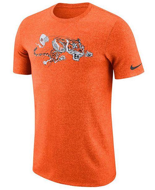 Nike Men's Cincinnati Bengals Marled Historic Logo T-Shirt
