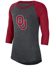Women's Oklahoma Sooners Logo Raglan T-Shirt