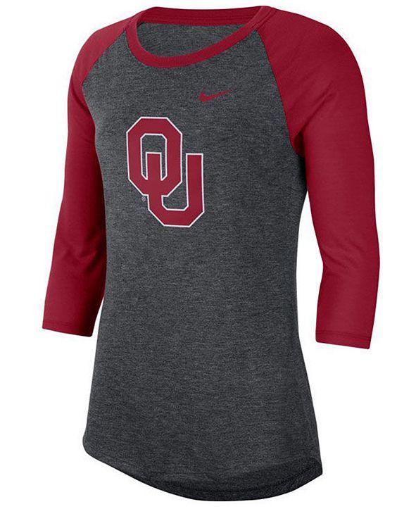 Nike Women's Oklahoma Sooners Logo Raglan T-Shirt