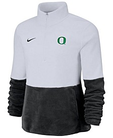 Women's Oregon Ducks Therma Long Sleeve Quarter-Zip Pullover