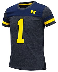 Big Girls Michigan Wolverines Mink T-Shirt
