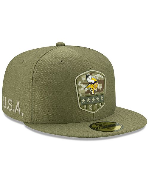 New Era Minnesota Vikings On-Field Salute To Service 59FIFTY-FITTED Cap