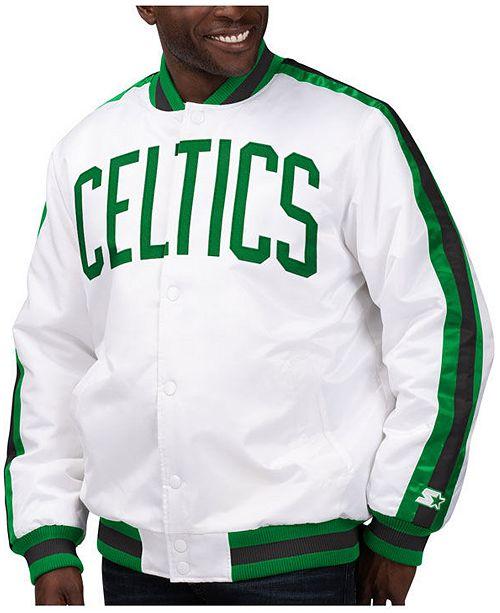 Starter Men's Boston Celtics The D-Line Starter Satin Jacket
