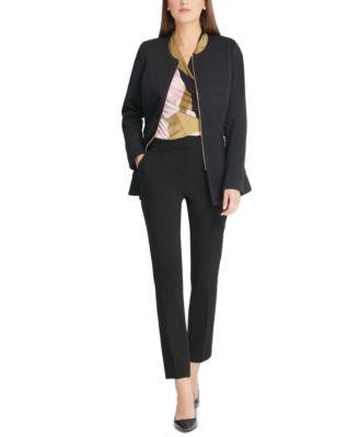 Zippered Textured Jacket