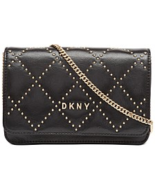 Sofia Stud Leather Flap Crossbody, Created For Macy's