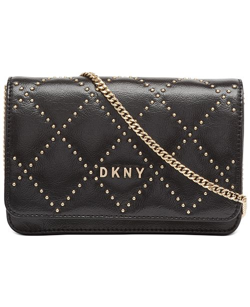 DKNY Sofia Stud Leather Flap Crossbody, Created For Macy's
