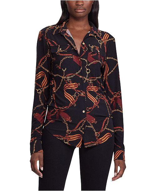 Lauren Ralph Lauren Equestrian Stretch Jersey Shirt
