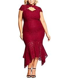Plus Size Lace Mermaid Dress