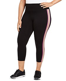 Plus Size Essex Stripe Tricot Cropped Leggings