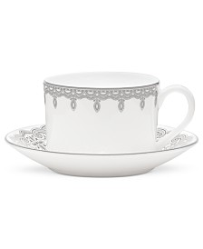 Waterford Lismore Lace Platinum Teacup and Saucer