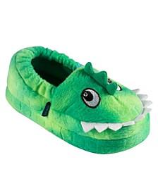Little and Toddler Boys Alligator Lighted Plush Slippers