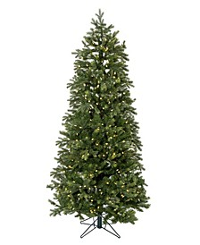 7.5' Pre-lit Slim Christmas Tree with White LED Lights