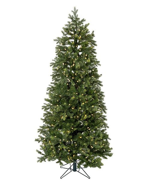 Perfect Holiday 7.5' Pre-lit Slim Christmas Tree with White LED Lights