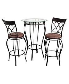 Fancy Pub Table set, 3 Piece