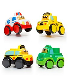 Blocks Set with 4 Electronic Cars