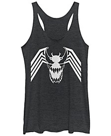 Marvel Women's Venom Spider Symbol Comic Tri-Blend Tank Top