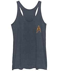 Star Trek Women's Discovery Delta Command Badge Tri-Blend Tank Top