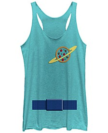 Disney Pixar Women's Toy Story Aliens Suit Halloween Tri-Blend Tank Top
