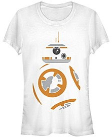 Star Wars Women's Bb-8 Profile Colored Stencil Art Short Sleeve Tee Shirt