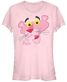 Pink Panther Women's Big Face Short Sleeve Tee Shirt