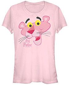 Fifth Sun Pink Panther Women's Big Face Short Sleeve Tee Shirt