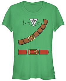 Nintendo Women's Zelda Basic Link Costume Belt Tunic Short Sleeve Tee Shirt