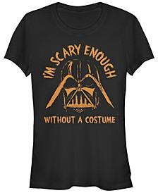 Star Wars Women's Darth Vader Scary Enough Short Sleeve Tee Shirt