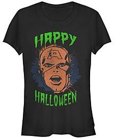 Marvel Women's Captain America Retro Happy Halloween Short Sleeve Tee Shirt