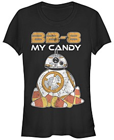 Star Wars Women's Bb-8 My Candy Halloween Short Sleeve Tee Shirt