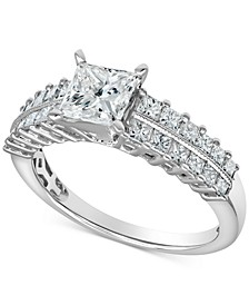 Diamond Princess Ring (1-3/4 ct. t.w.) in 14k White Gold