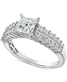 Diamond Princess Ring (1-3/4 ct. t.w.) in 14k White Gold