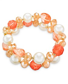 Imitation Pearl, Bead & Stone Stretch Bracelet, Created For Macy's
